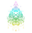 ornamental lotus flower ethnic art vector image vector image