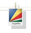 photo of seychelles flag vector image vector image