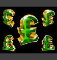 pound sterling sign vector image