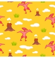 pterodactyl kid seamless pattern vector image vector image