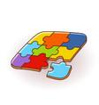 puzzles 3d logo puzzle design puzzle vector image