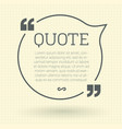quote mock up vector image vector image