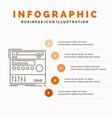 rack component module sound studio infographics vector image vector image