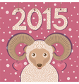 Ram symbol of New year 2015 vector image vector image