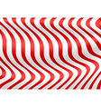 Red White Striped 3D Texture vector image vector image