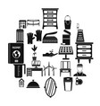 refinement icons set simple style vector image
