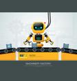 robot machine artificial intelligence technology vector image