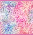 seamless floral grunge blue and violet pattern vector image vector image
