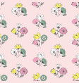 seamless floral texture with flower vector image vector image