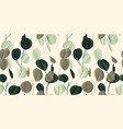 seamless pattern vintage green and brown leaves vector image vector image