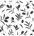 seamless pattern with olive branches on vector image