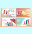 set family web page templates vector image