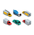 set of different isometric automobiles vector image