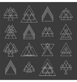 Set of trendy geometric shapes Geometric hipster vector image vector image