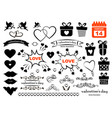 set valentines day icons such as celebration vector image vector image