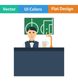 Sport bar stand with barman icon vector image vector image