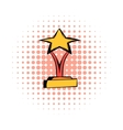 Star award comics icon vector image