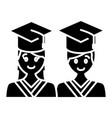 students in graduation vector image vector image