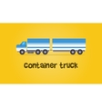 Style container truck of vector image vector image