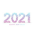 text design christmas and happy new year 2021 vector image vector image