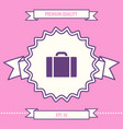 travel bag icon graphic elements for your design vector image
