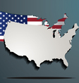 USA paper map and flag vector image
