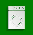washing machine sign paper whitish icon vector image vector image