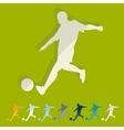 Flat design soccer player vector image