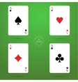 Four aces vector image