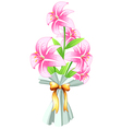 A boquet of fresh flowers vector image vector image