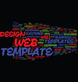 are web templates worth it text background word vector image vector image