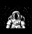 astronaut spaceman in suit vector image