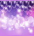 balloons and bokeh lights celebration background vector image vector image