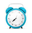 Blue Alarm Clock Isolated on White Background vector image vector image