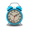 blue alarm clock vector image