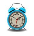 blue alarm clock vector image vector image