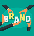 brand company concept background flat style vector image vector image