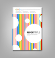 Brochures book or flyer with colored stripes and vector image vector image
