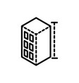 building construction architecture icon line style vector image