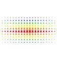 bulwark tower spectrum halftone effect vector image vector image