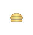 Burger computer symbol vector image vector image