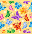 butterfly seamless background 1 vector image