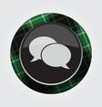 button green black tartan - two speech bubbles vector image vector image