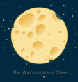 cheese moon template vector image vector image