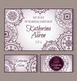 Circular patterns decor on wedding cards vector image vector image