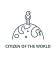 citizen world line icon citizen of vector image