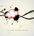 cloud shape vector image vector image