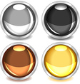 Colorful glossy buttons-set3 vector image vector image