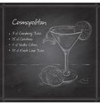 Cosmopolitan on black board vector image vector image