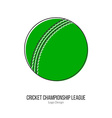 Cricket sport game logotype design concept vector image vector image